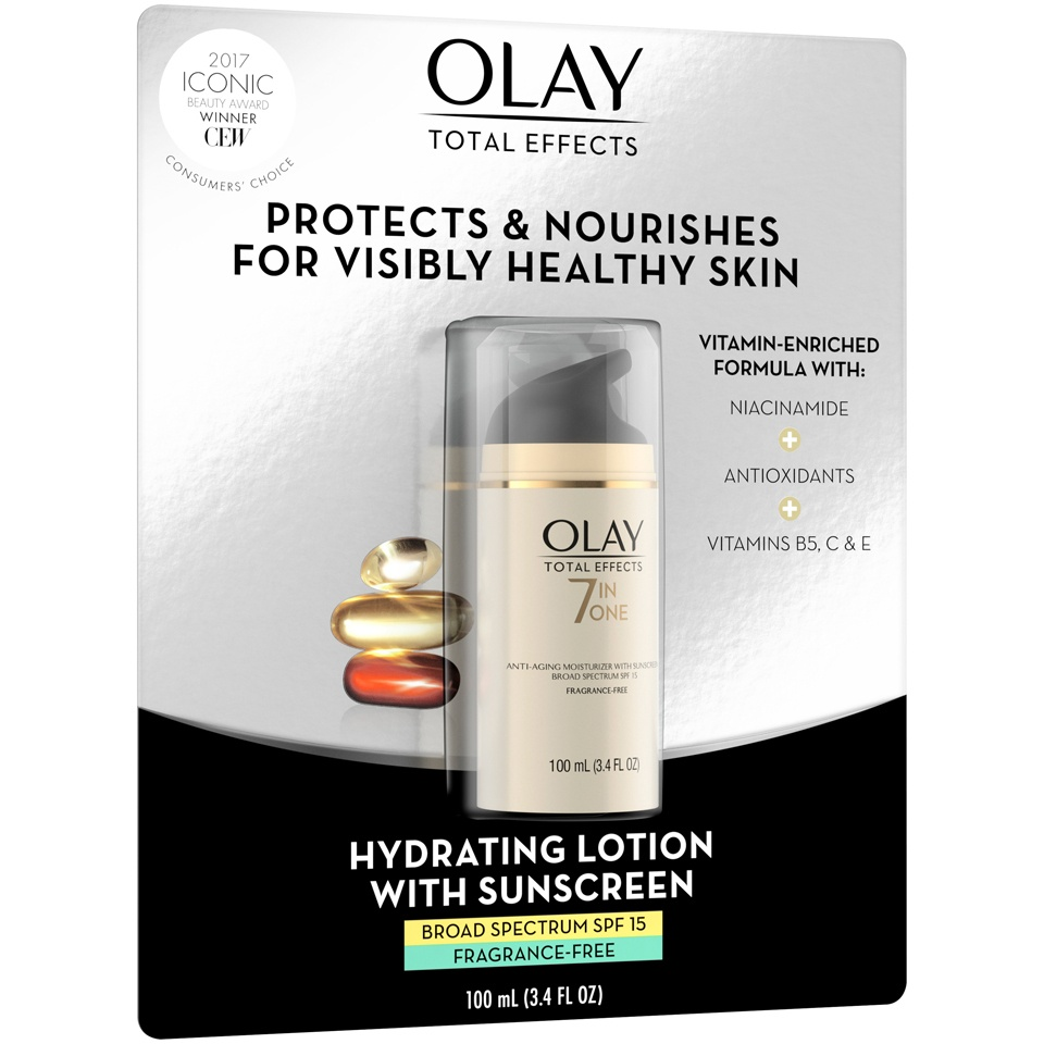 slide 3 of 4, Olay Total Effects 7-in-1 Anti-Aging Moisturizer with Broad Spectrum SPF 15 Sunscreen,