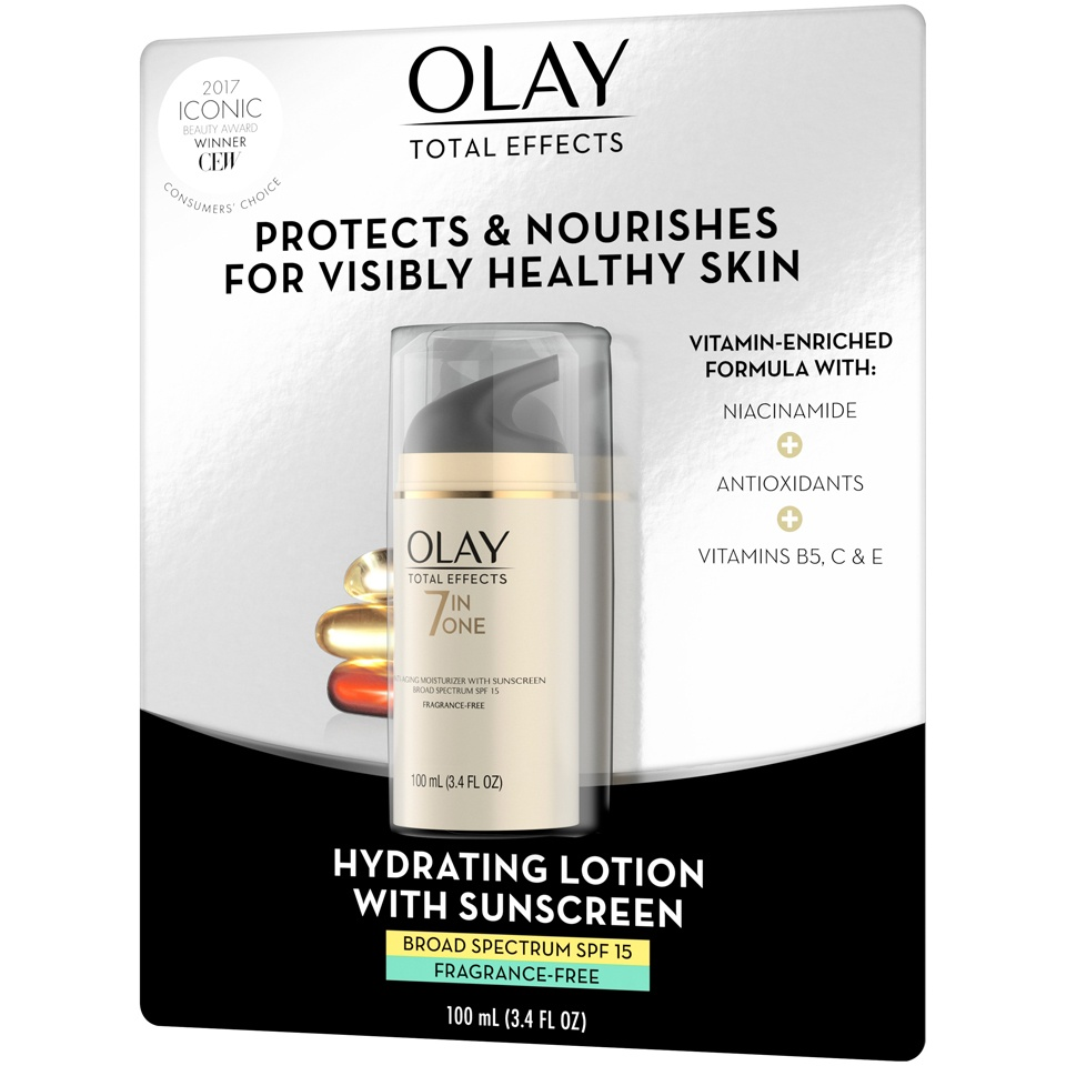slide 4 of 4, Olay Total Effects 7-in-1 Anti-Aging Moisturizer with Broad Spectrum SPF 15 Sunscreen,