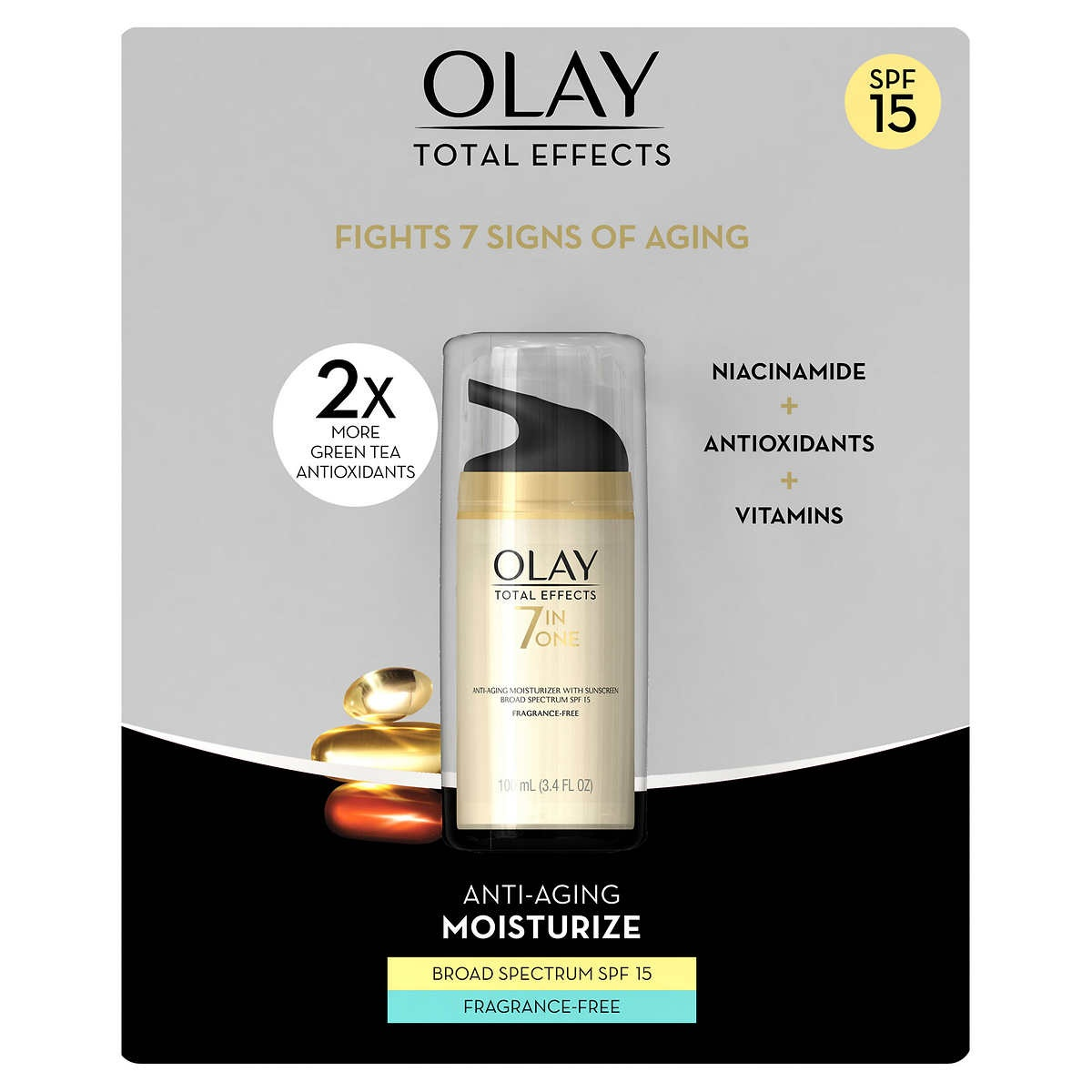 slide 1 of 4, Olay Total Effects 7-in-1 Anti-Aging Moisturizer with Broad Spectrum SPF 15 Sunscreen,