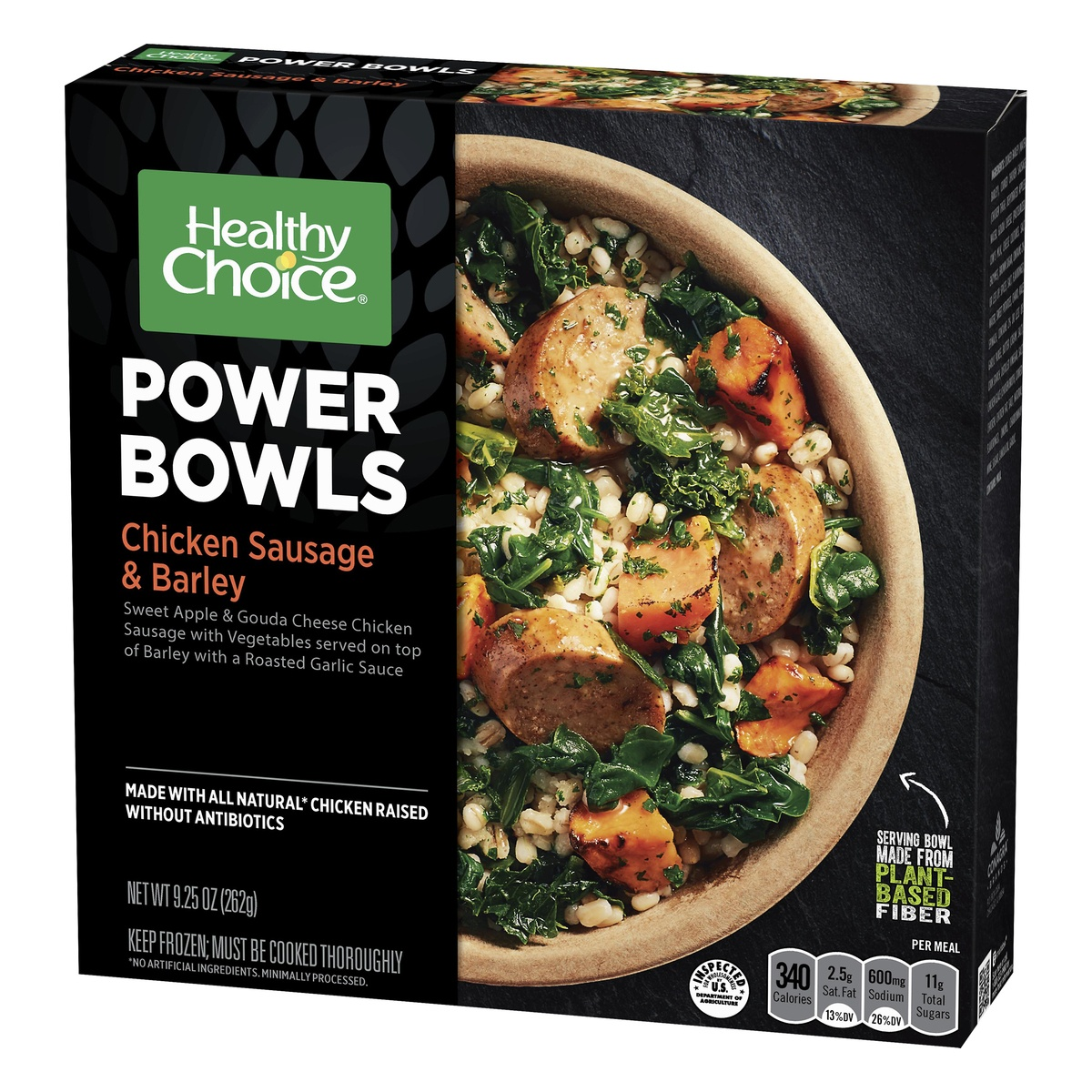 slide 2 of 8, Healthy Choice Powerbowl Chicken Sausage Barley,