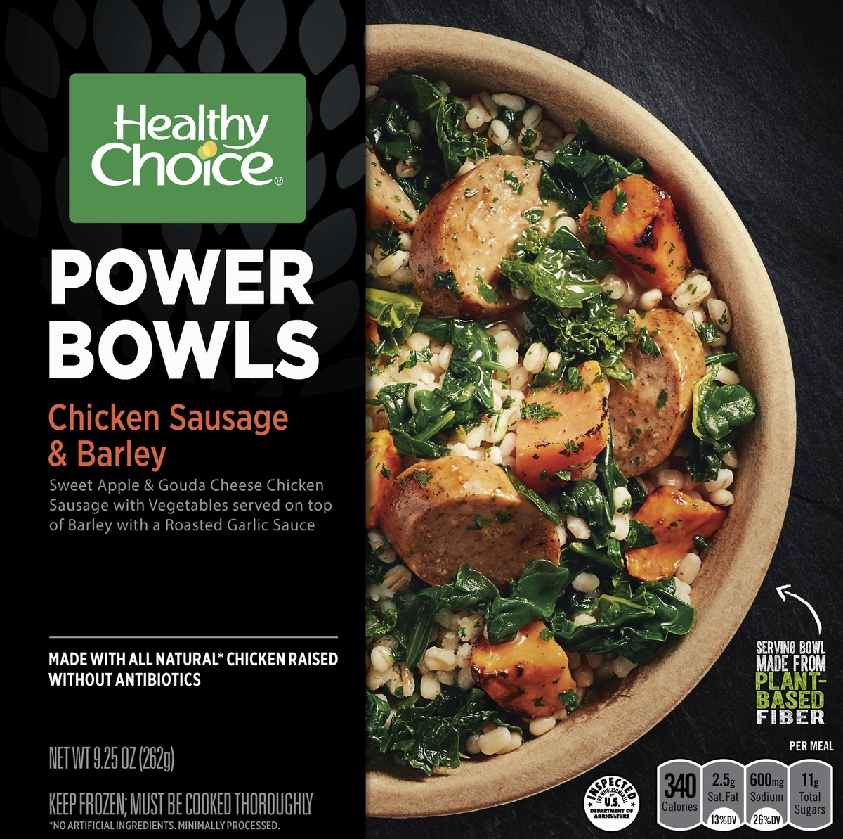 slide 7 of 8, Healthy Choice Powerbowl Chicken Sausage Barley,