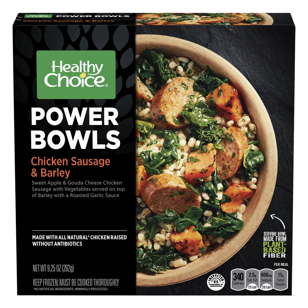 slide 1 of 8, Healthy Choice Powerbowl Chicken Sausage Barley,