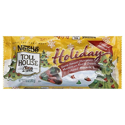 slide 1 of 1, Nestlé Toll House Holiday Semisweet Chocolate Morsels,