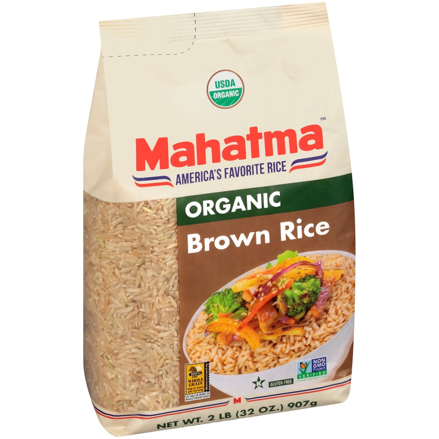 slide 2 of 8, Mahatma Organic Brown Rice,