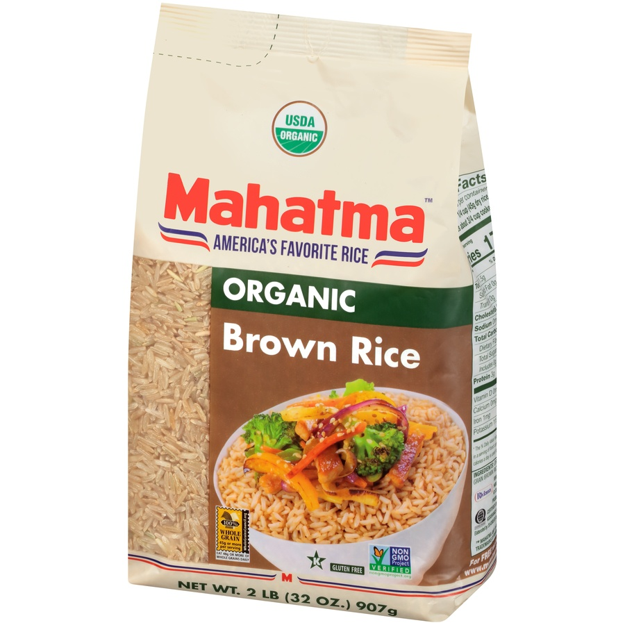 slide 3 of 8, Mahatma Organic Brown Rice,