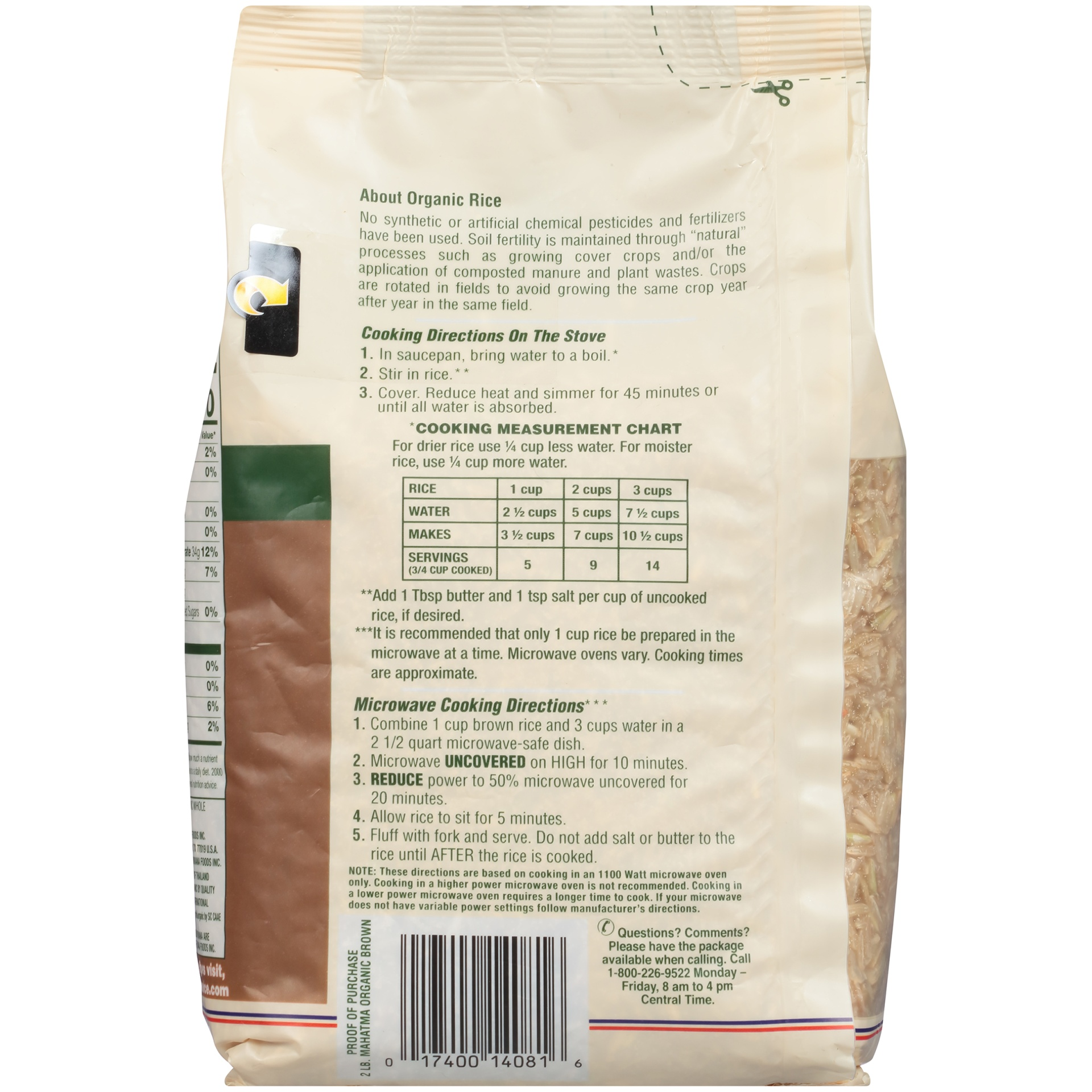 slide 6 of 8, Mahatma Organic Brown Rice,