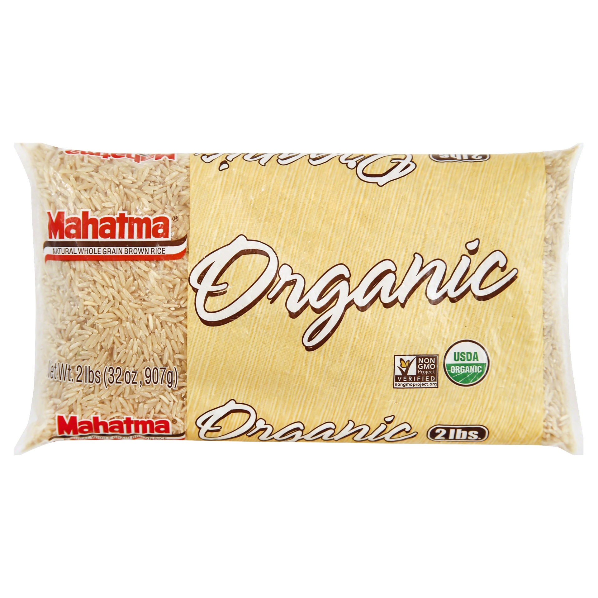 slide 1 of 8, Mahatma Organic Brown Rice,
