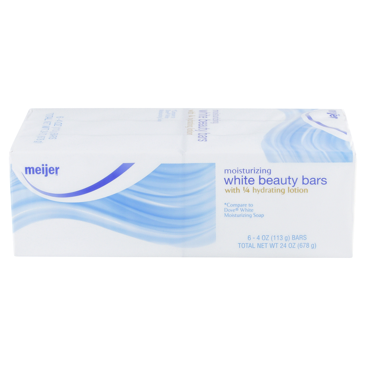 slide 2 of 4, Meijer Moisturizing White Beauty Bar Soap,