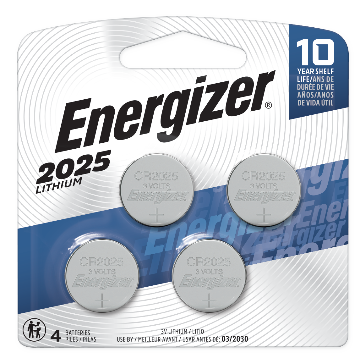 slide 1 of 2, Energizer 2025 Lithium Coin Batteries,