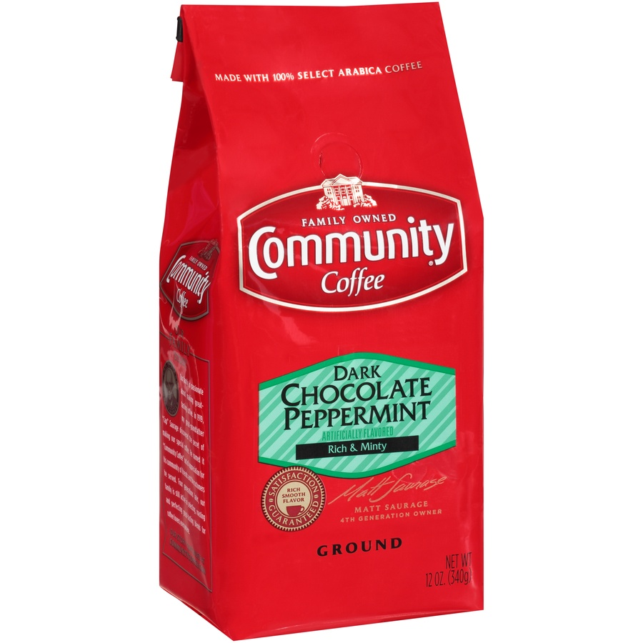 slide 2 of 7, Community Coffee Dark Chocolate Peppermint Ground Coffee,