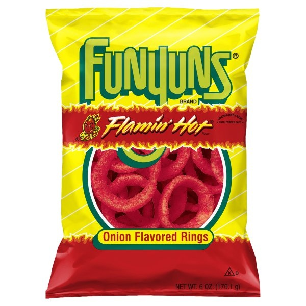 slide 1 of 3, Funyuns Flamin Hot Onion Flavored Rings,