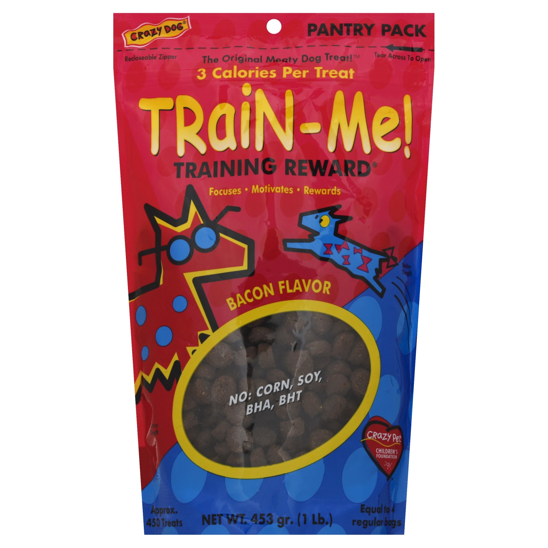 slide 1 of 1, Crazy Dog Train-Me! Bacon Flavored Training Reward Dog Treats,