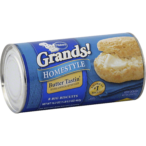 slide 2 of 4, Pillsbury Grands Homestyle Butter Tastin' Biscuits,