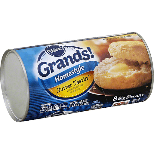 slide 3 of 4, Pillsbury Grands Homestyle Butter Tastin' Biscuits,