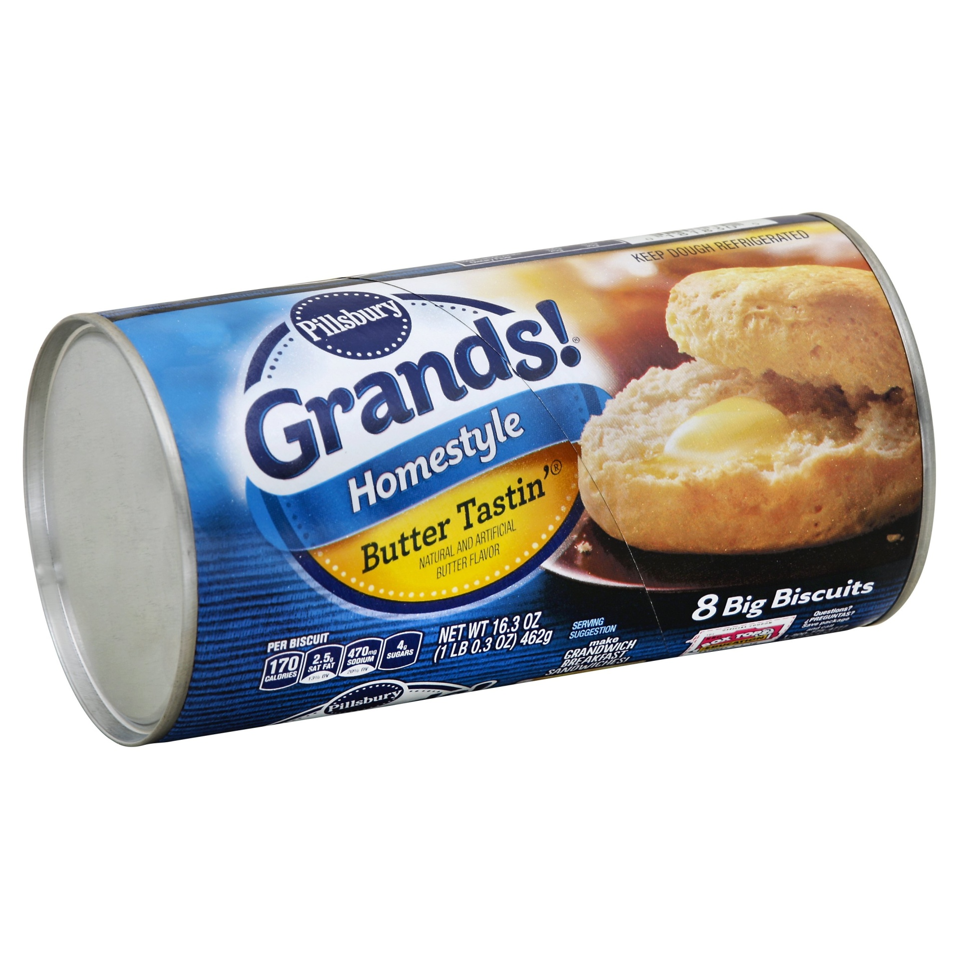 slide 1 of 4, Pillsbury Grands Homestyle Butter Tastin' Biscuits,