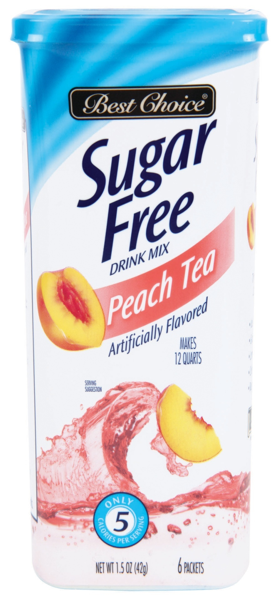 slide 1 of 1, Best Choice Sugar Free Peach Tea Drink Mix,