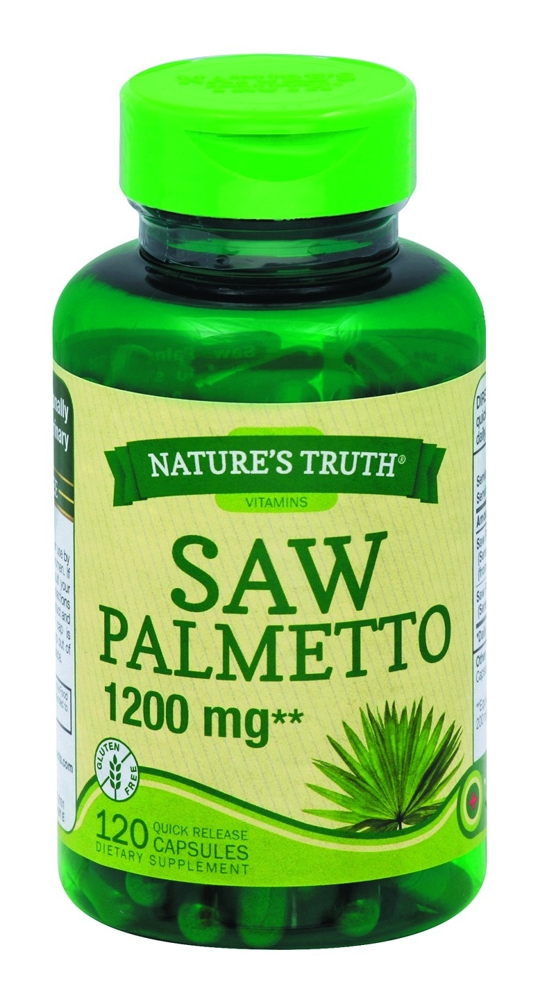 slide 1 of 1, Nature's Truth Saw Palmetto 1200 mg, 120 Count,