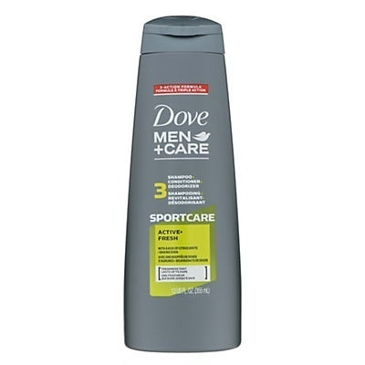 slide 1 of 2, Dove Men+Care 2-In-1 Active Fresh Shampoo,