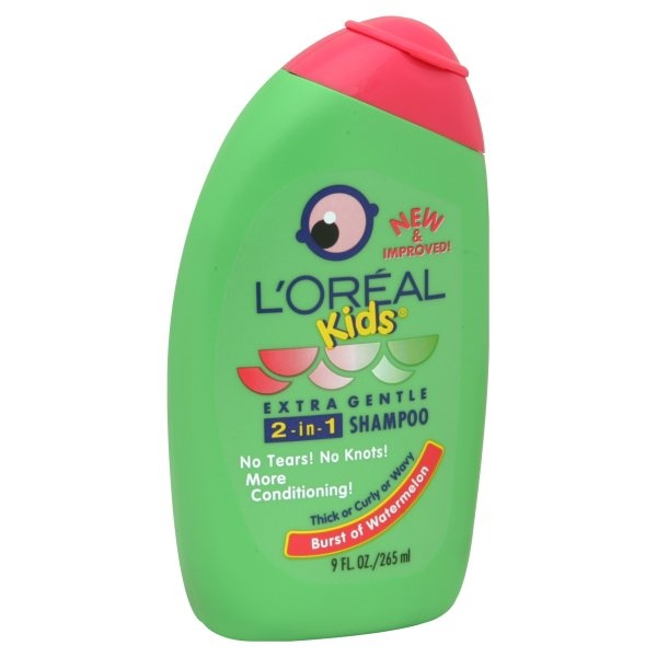 slide 1 of 5, L'Oréal Kids 2 In 1 Shampoo Watermelon For Thick Or Curly Hair,