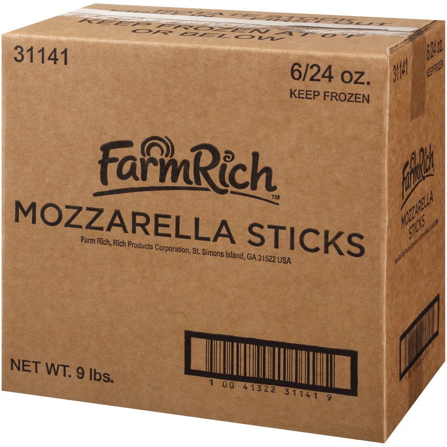 slide 3 of 8, Farm Rich Breaded Mozzarella Sticks,