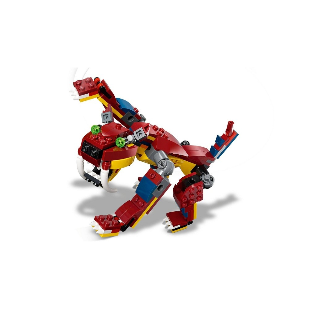 slide 3 of 7, LEGO Creator 3-in-1 Fire dragon 31102 Fearsome Building Kit,