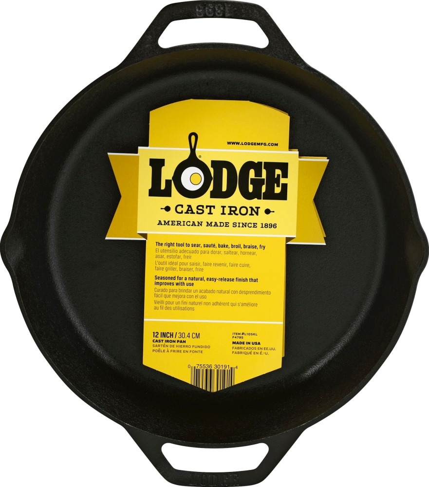 slide 1 of 1, Lodge Round Cast Iron Pan,