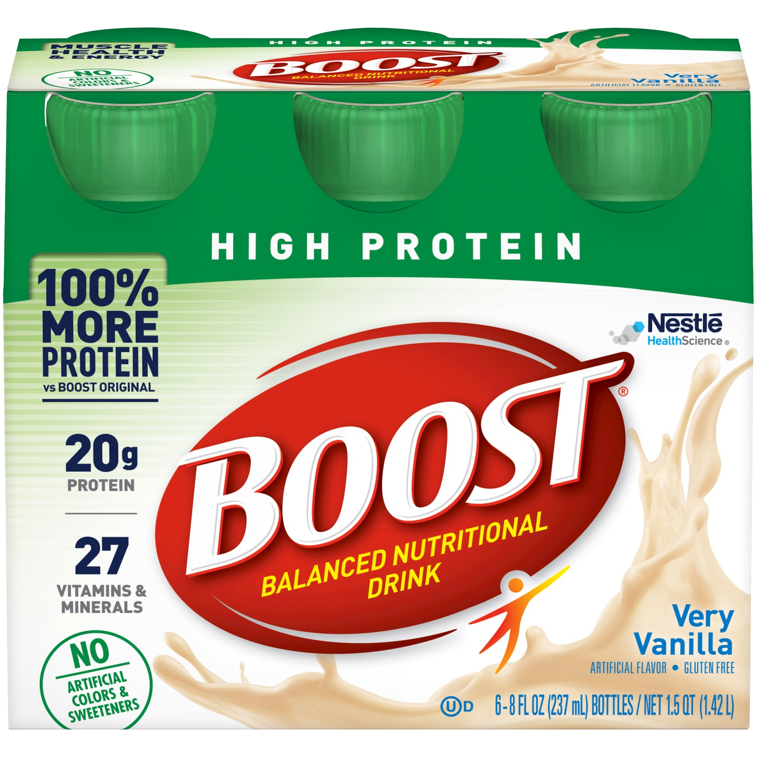 slide 2 of 9, Boost High Protein Nutritional Drink Vanilla,
