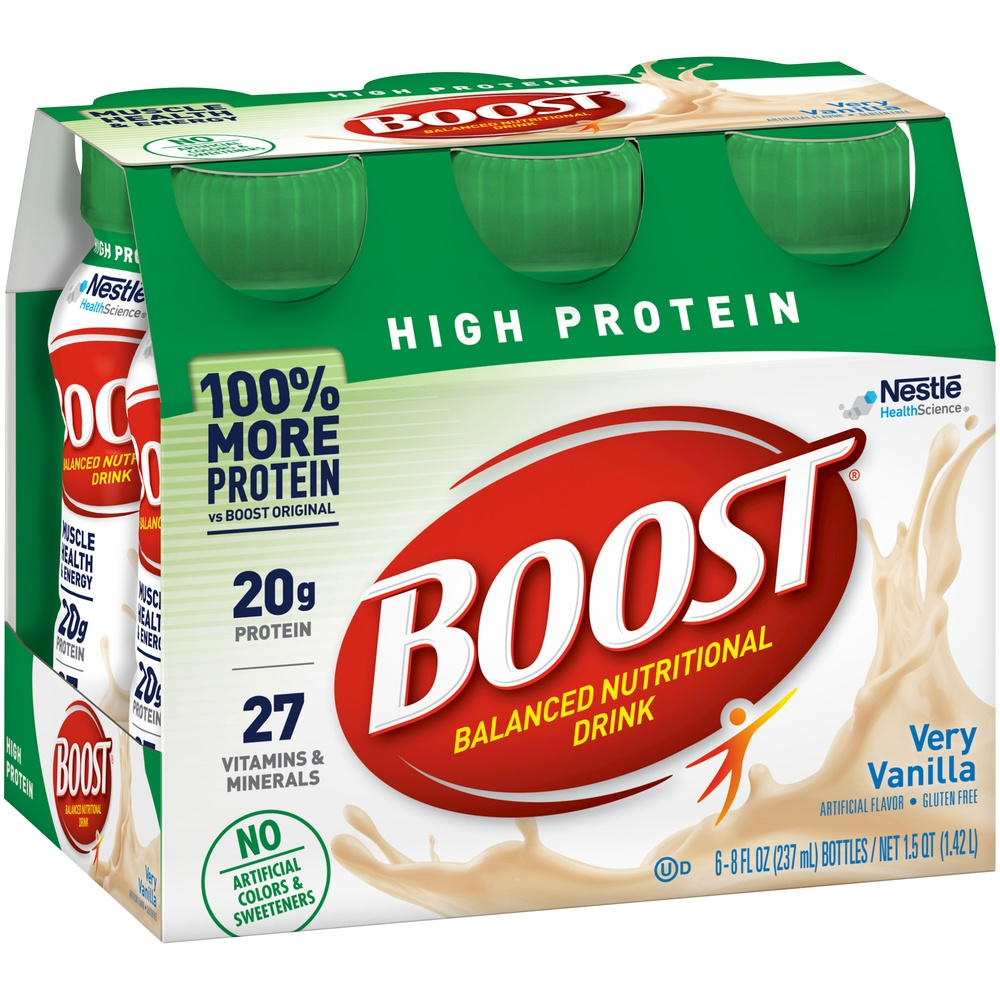 slide 3 of 9, Boost High Protein Nutritional Drink Vanilla,