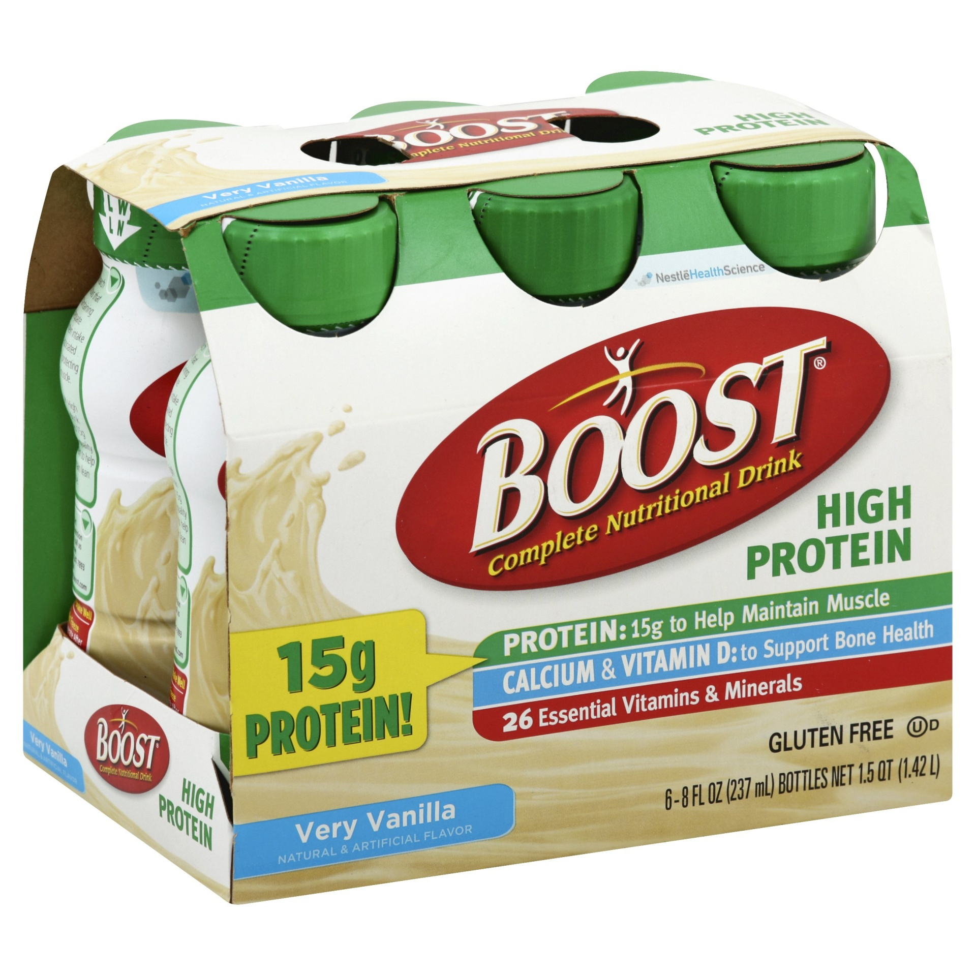 slide 1 of 9, Boost High Protein Nutritional Drink Vanilla,