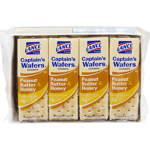 slide 2 of 10, Lance Captain's Wafers Peanut Butter & Honey Sandwich Crackers,