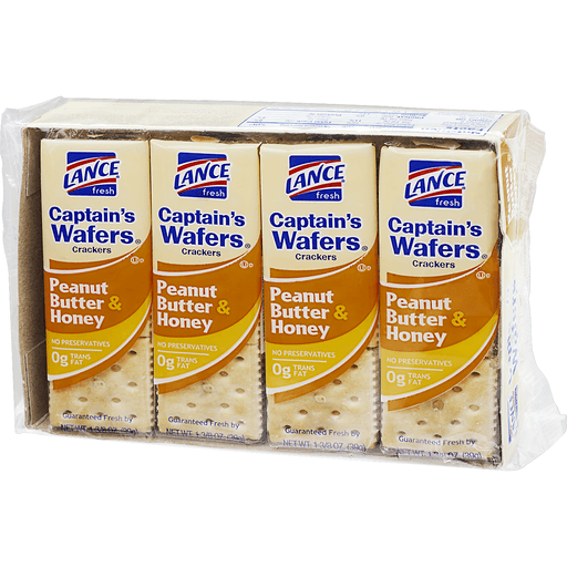 slide 3 of 10, Lance Captain's Wafers Peanut Butter & Honey Sandwich Crackers,