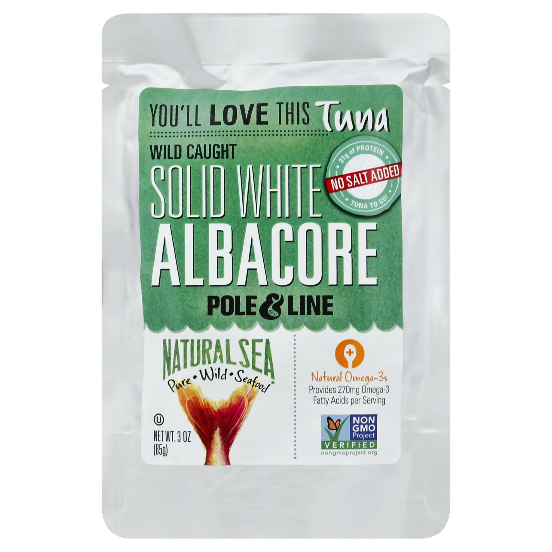 slide 1 of 1, Solid White Albacore in Pouch No Salt,