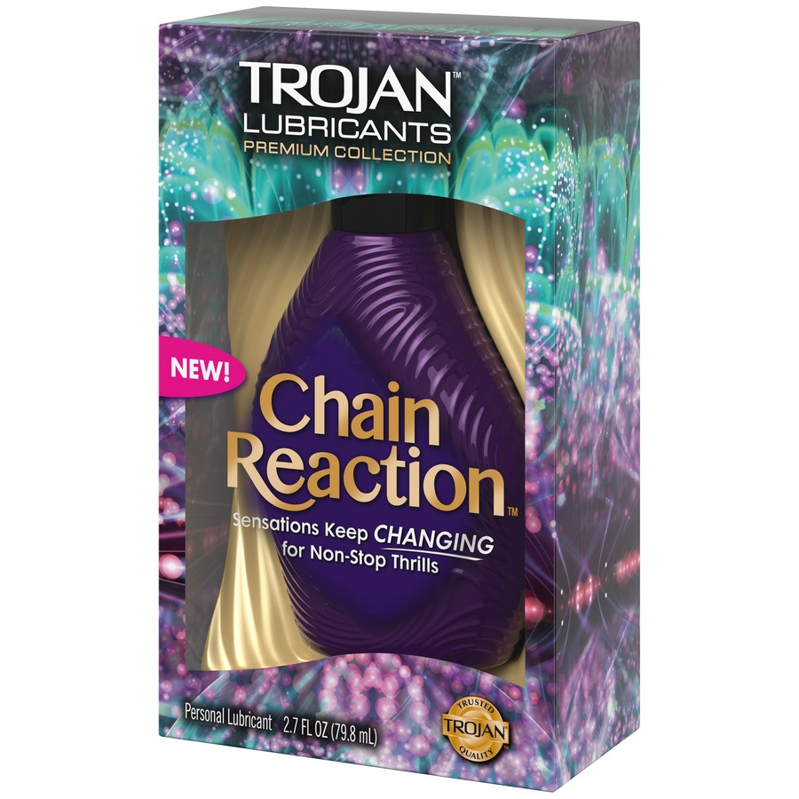 slide 3 of 3, Trojan Chain Reaction Personal Lubricant,