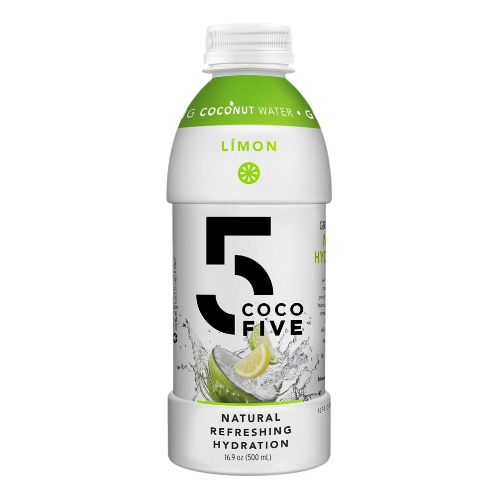 slide 1 of 1, Coco5 Limon Coconut Water,