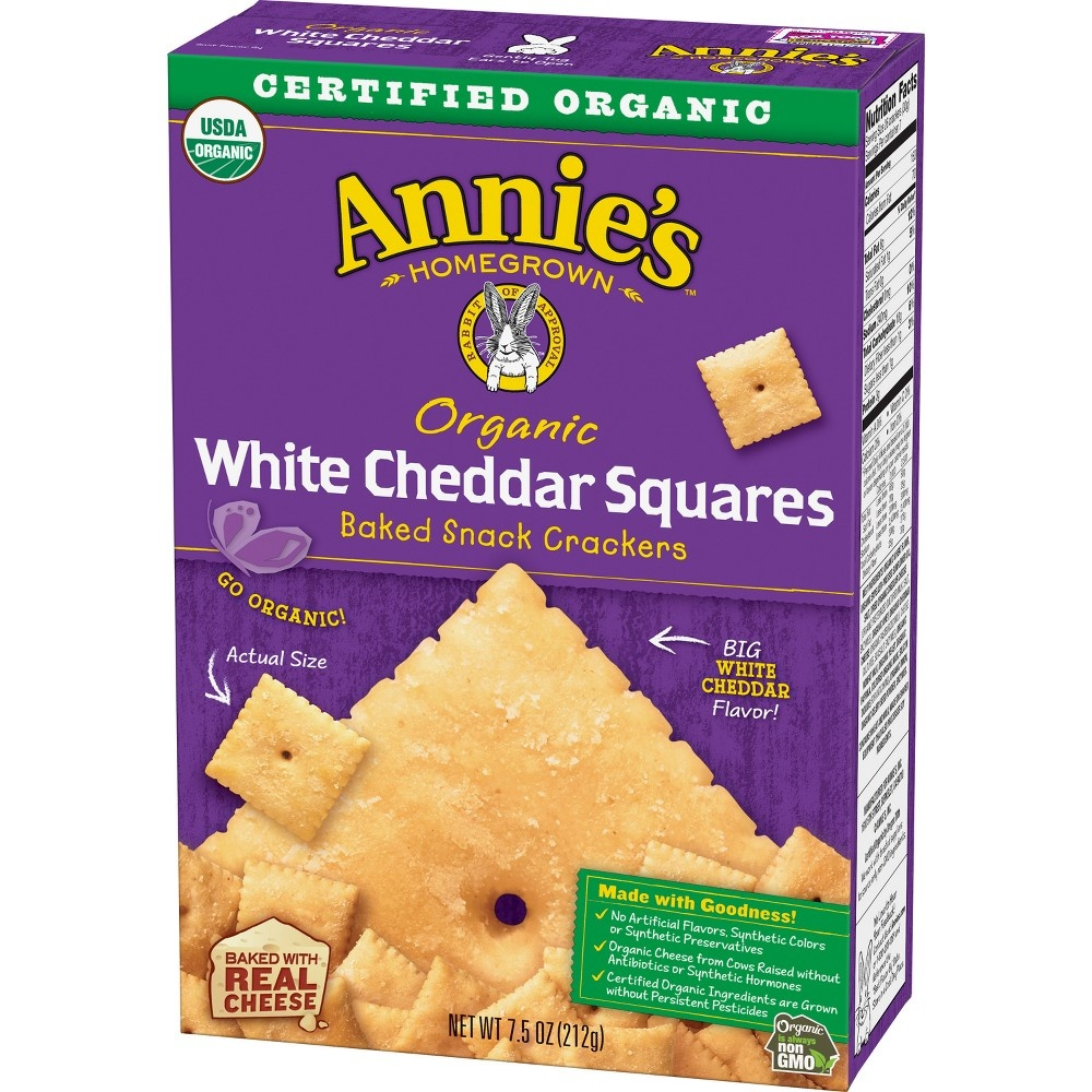slide 2 of 3, Annie's Organic White Cheddar Squares,
