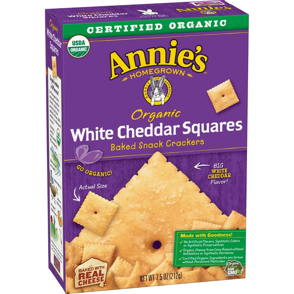 slide 3 of 3, Annie's Organic White Cheddar Squares,