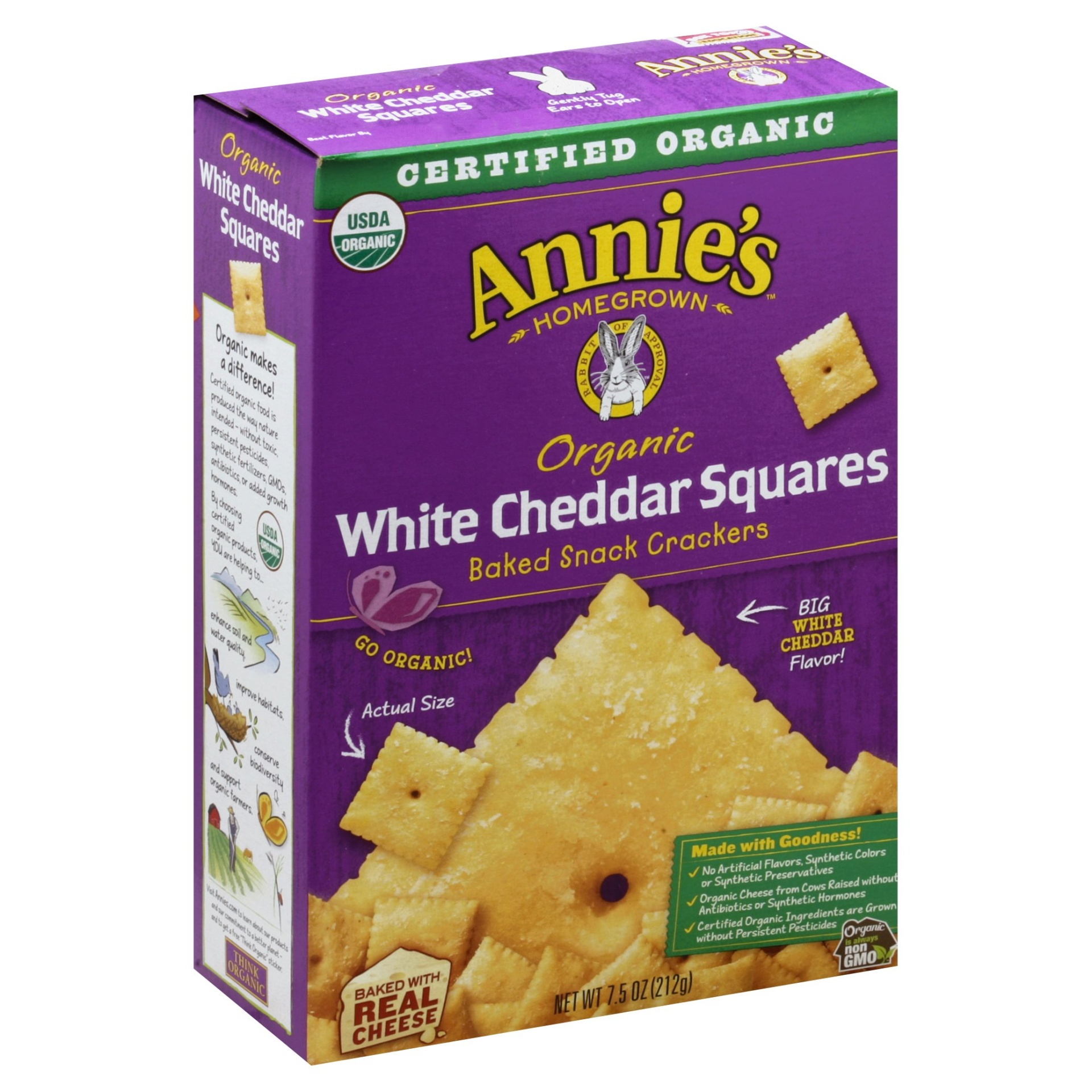 slide 1 of 3, Annie's Organic White Cheddar Squares,
