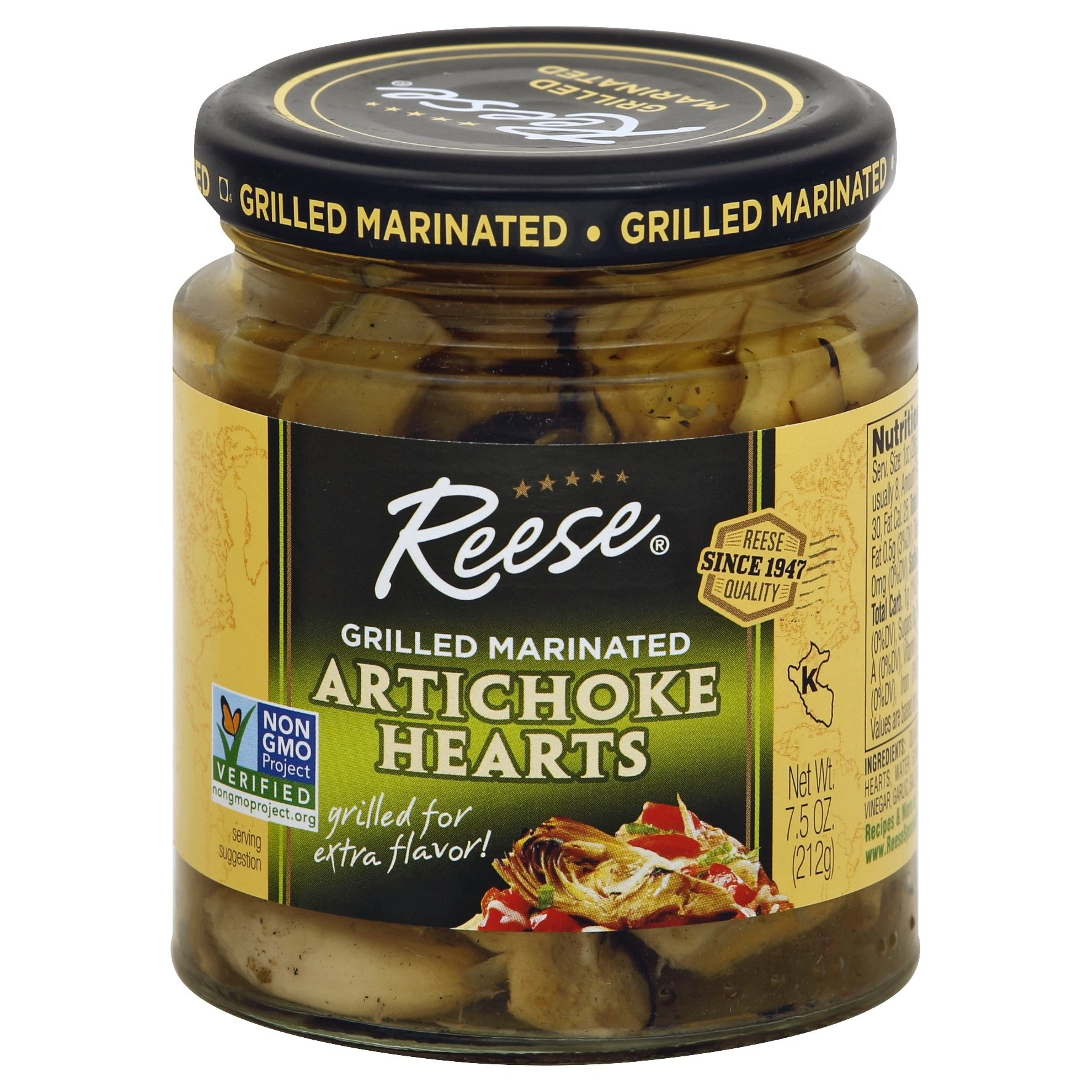 slide 1 of 2, Reese Grilled Marinated Artichoke Hearts,