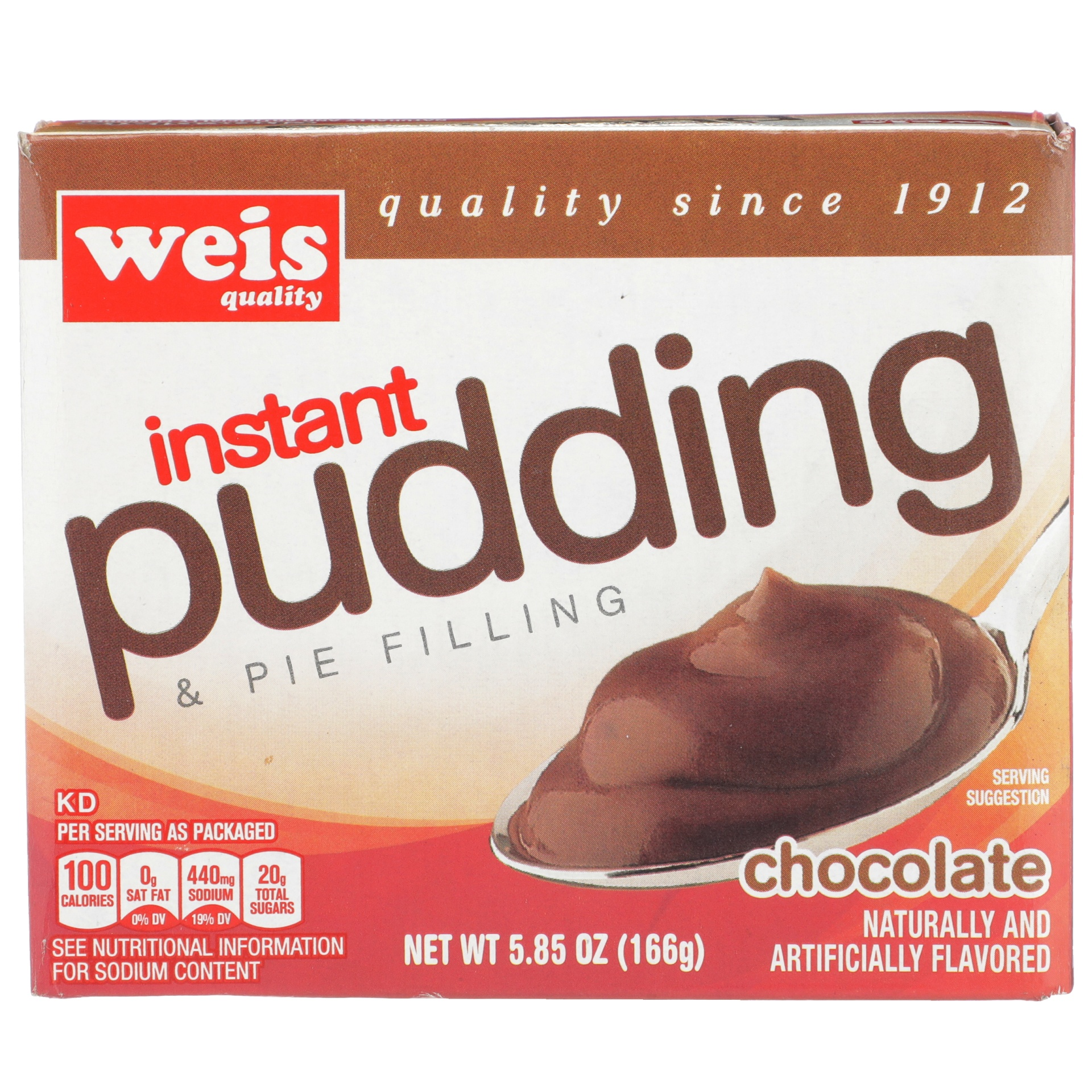 slide 1 of 6, Weis Quality Chocolate Flavored Instant Pudding and Pie Filling,