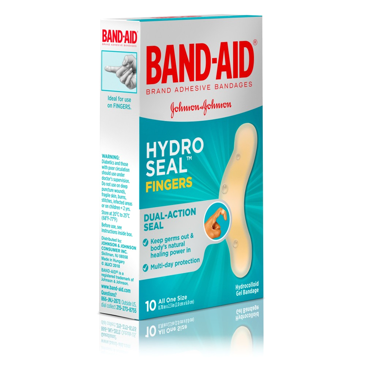 slide 5 of 6, BAND-AID Hydro Seal Fingers Adhesive Bandages,