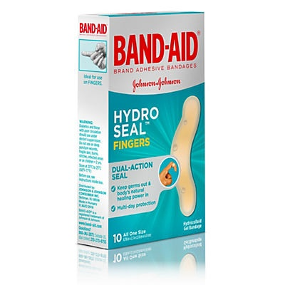 slide 1 of 6, BAND-AID Hydro Seal Fingers Adhesive Bandages,