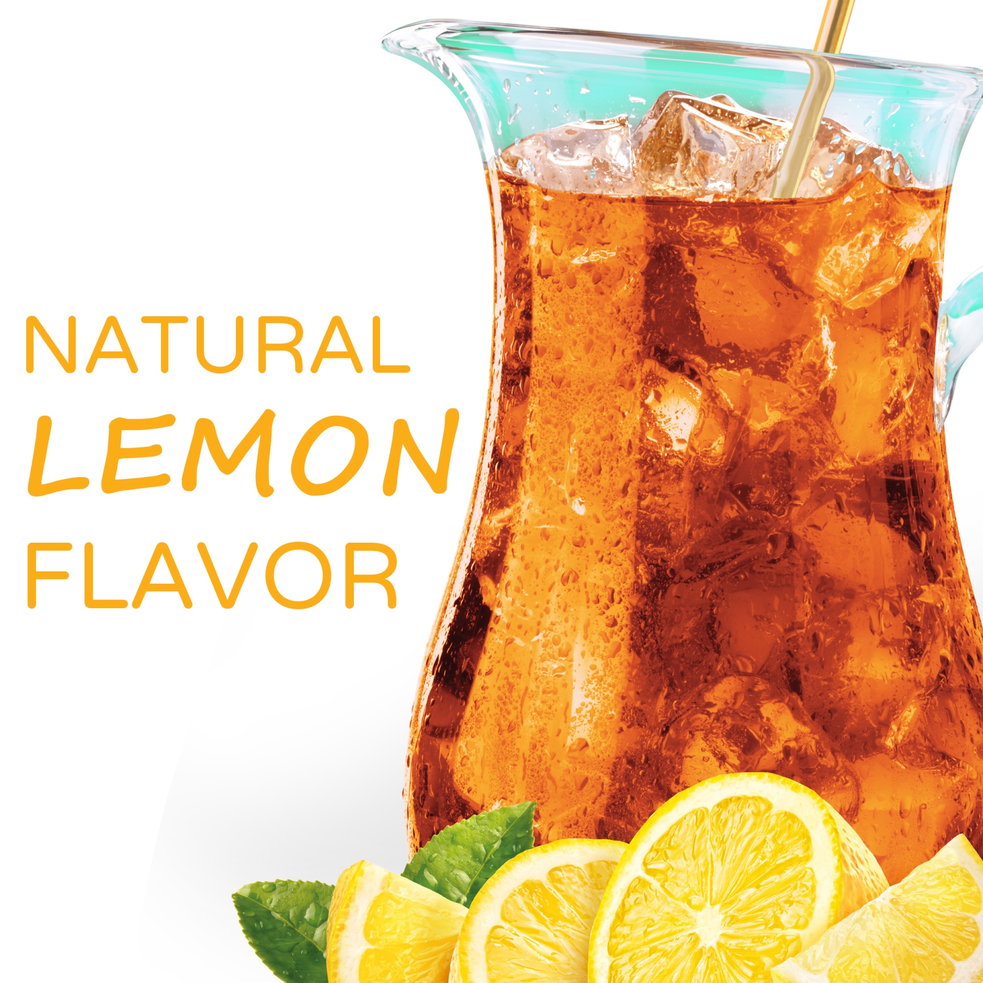 slide 3 of 11, Crystal Light Natural Lemon Decaffeinated Iced Tea Drink Mix,