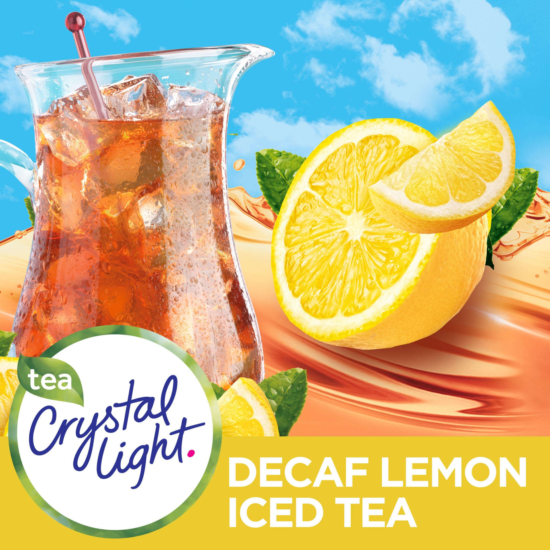slide 6 of 11, Crystal Light Natural Lemon Decaffeinated Iced Tea Drink Mix,