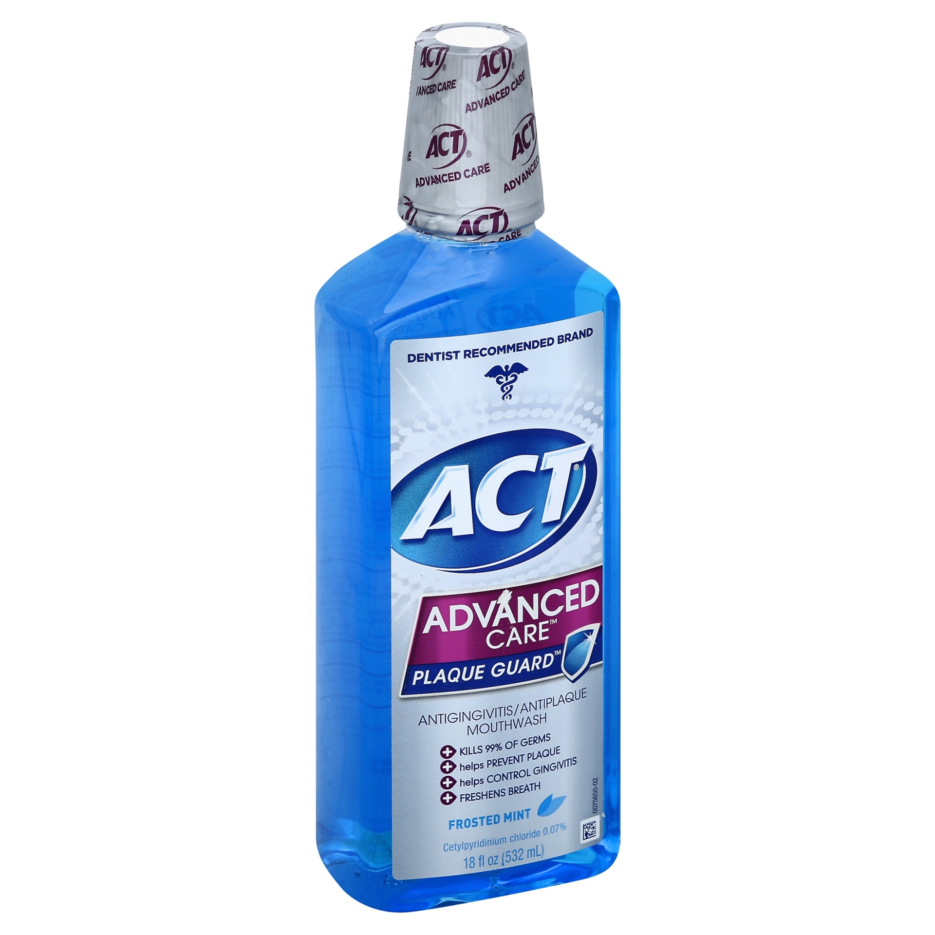 slide 1 of 1, ACT Advanced Fresh Mint Mouthwash,