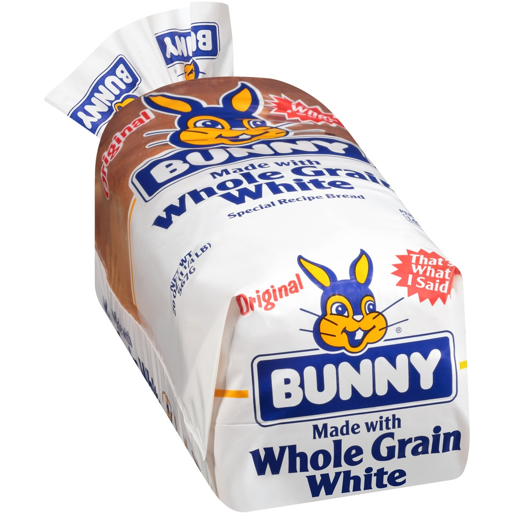 slide 2 of 8, Bunny Ultrasoft Made With Whole Grain White Bread,