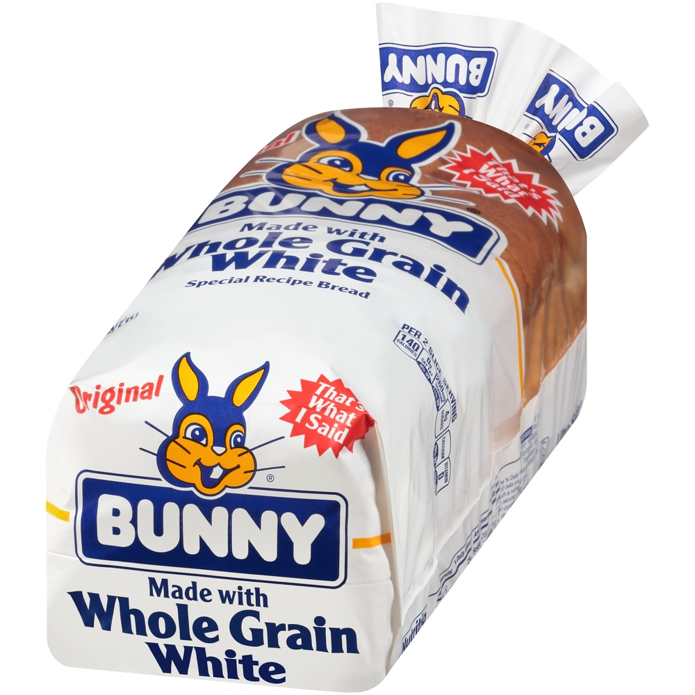 slide 3 of 8, Bunny Ultrasoft Made With Whole Grain White Bread,