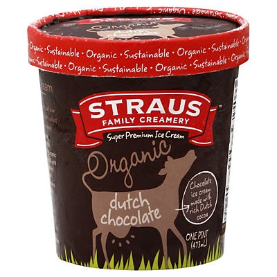 slide 1 of 1, Straus Family Creamery Organic Dutch Chocolate Ice Cream,