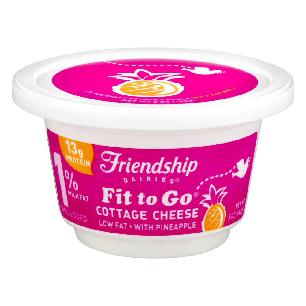 slide 1 of 1, Friendship Dairies Fit to Go Pineapple Cottage Cheese,