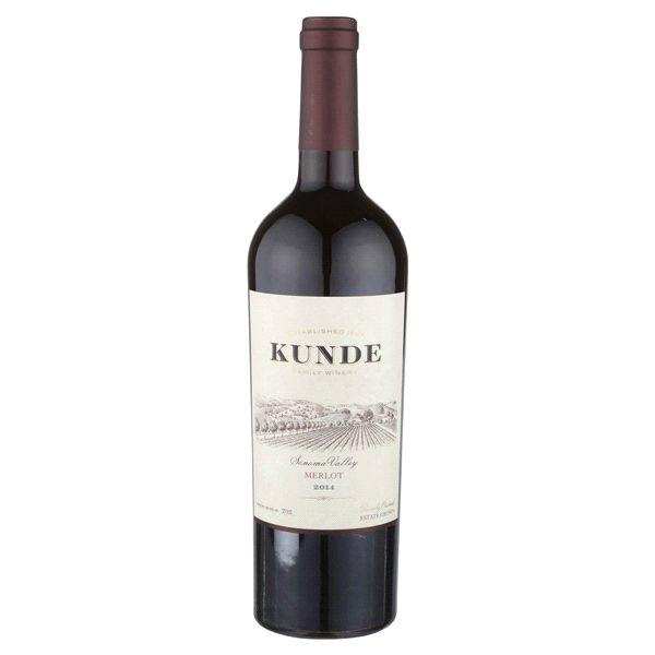 slide 1 of 1, Kunde Estate Merlot,
