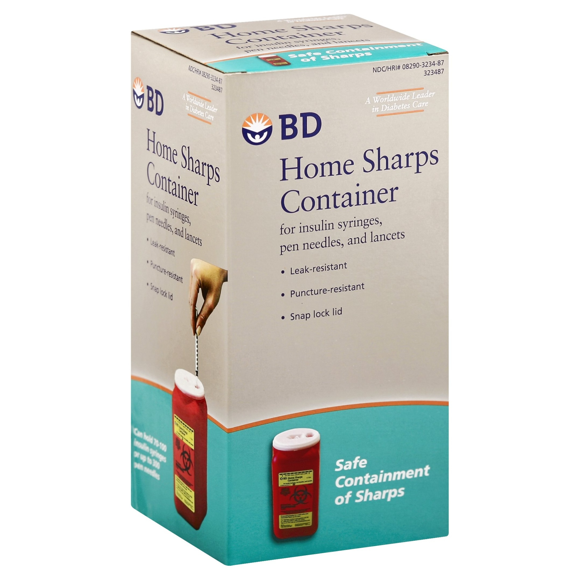 slide 1 of 1, BD Home Sharps Container,